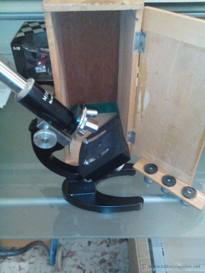 ANTIGUO MICROSCOPIO (Antigüedades - Técnicas - Instrumentos Ópticos - Microscopios Antiguos)