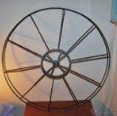 Antigüedades: BOBINA DE METAL - PROYECTOR CINEMATOGRÁFICO - 90 CM - CINE - TAMBOR - PELÍCULA - AÑOS 50-60. Lote 46164420