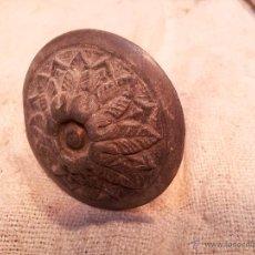 Antigüedades: TIRADOR POMO REALIZADO EN CALAMINA BRONCEADA AÑOS 30. Lote 46185148