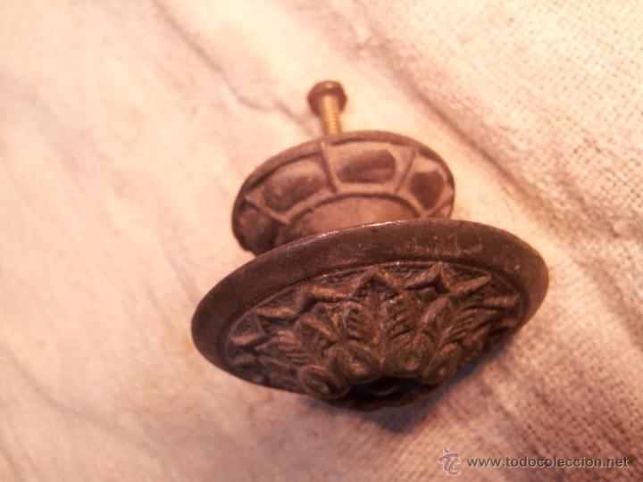 Antigüedades: tirador pomo realizado en calamina bronceada años 30 - Foto 9 - 46185148
