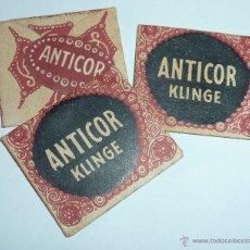 Antigüedades: LOTE 3 ANTIGUAS PEQUEÑAS HOJAS AFEITAR ANTICOR KLINGE. Lote 46198840