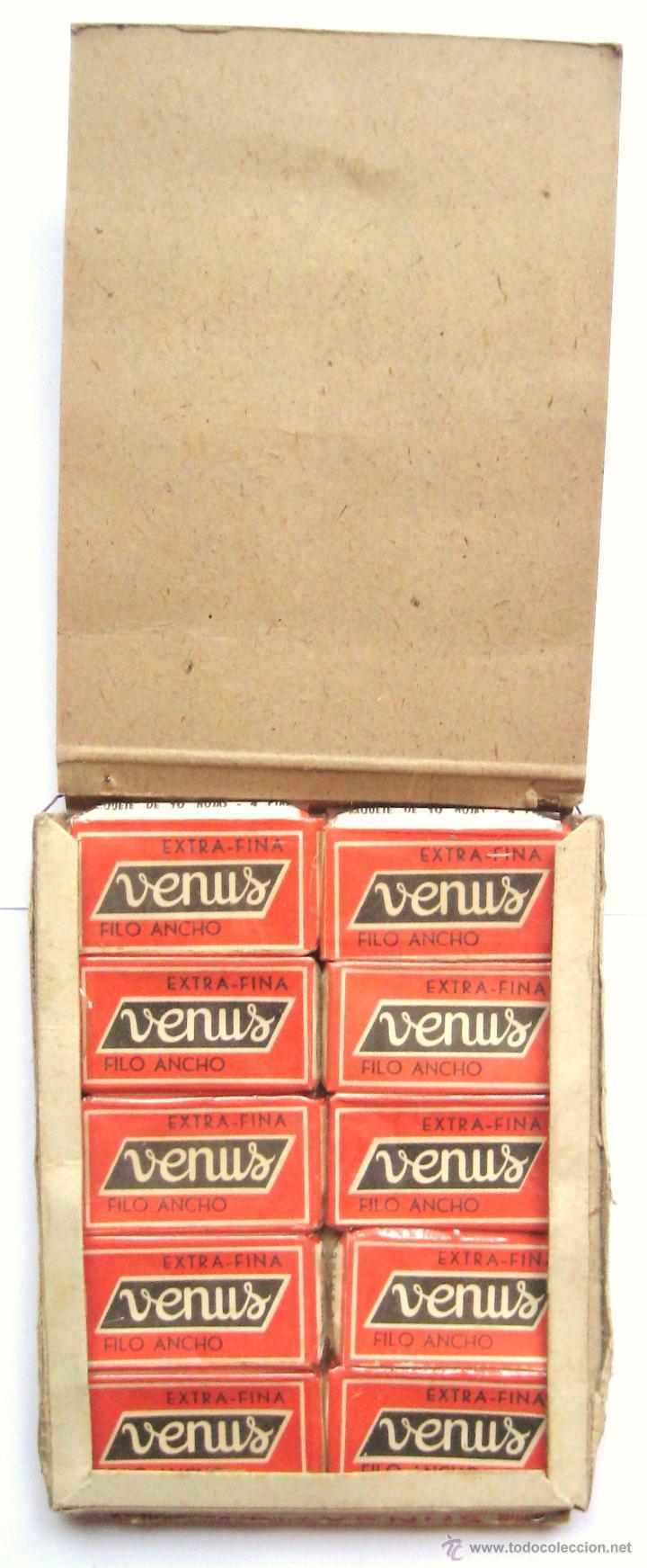 Antigüedades: EXPOSITOR PUBLICIDAD DE CUCHILLAS HOJAS DE AFEITAR VENUS AÑOS 50 - Foto 3 - 46210345