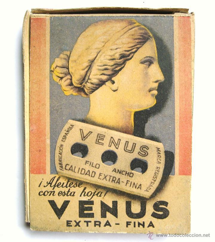 Antigüedades: EXPOSITOR PUBLICIDAD DE CUCHILLAS HOJAS DE AFEITAR VENUS AÑOS 50 - Foto 3 - 46210798