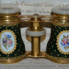 Antigüedades: PRECIOSOS PRISMATICOS DE ESMALTE Y NACAR,S. XIX. Lote 46300598