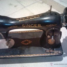 Antigüedades: SINGER. MAQUINA DE COSER ANTIGUA. VER FOTOS. 1935-1936. Lote 46368177