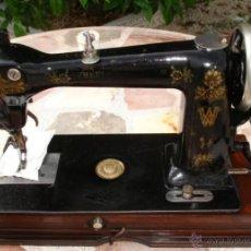 Antiquités: PRECIOSA Y ANTIGUA MAQUINA DE COSER, WHEELER & WILSON, U.S.A. C.1895, FUNCIONA Y COSE MUY BIEN PONER. Lote 46379240