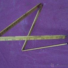 Antiquités: METRO (MEO) DRAPER. HOLANDA. DOS ESCALAS EN CM Y PULGADAS. Lote 46384859
