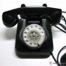 Teléfonos: TELÉFONO ESPAÑOL BAQUELITA AÑOS 50, MOD. 5523E, FABRICANTE STANDARD ELÉCTRICA, S.A.,. Lote 46421332