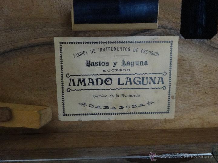 Antigüedades: TEODOLITO FABRICADO EN LA EMPRESA AMANDO LAGUNA - XXX 011 - Foto 12 - 42967062