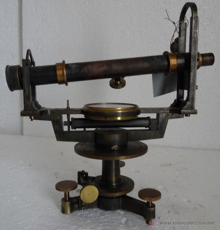 Antigüedades: TEODOLITO EN BRONCE CON BRÚJULA CENTRAL PRINCIPIOS SIGLO XX - 30 - Foto 4 - 44278362