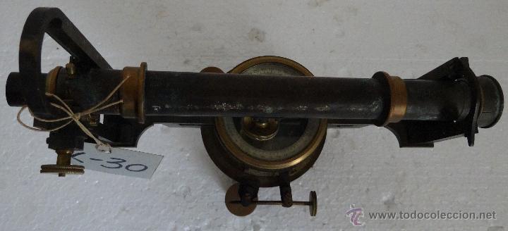 Antigüedades: TEODOLITO EN BRONCE CON BRÚJULA CENTRAL PRINCIPIOS SIGLO XX - 30 - Foto 6 - 44278362