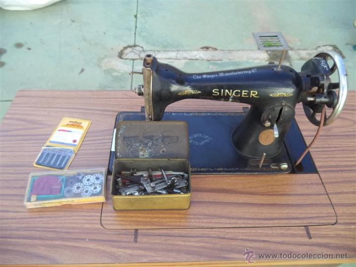 Antigüedades: maquina de coser singer - Foto 2 - 46598866