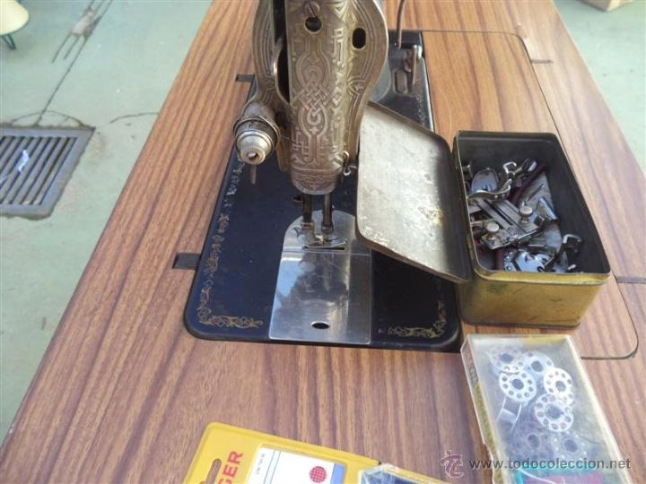 Antigüedades: maquina de coser singer - Foto 3 - 46598866