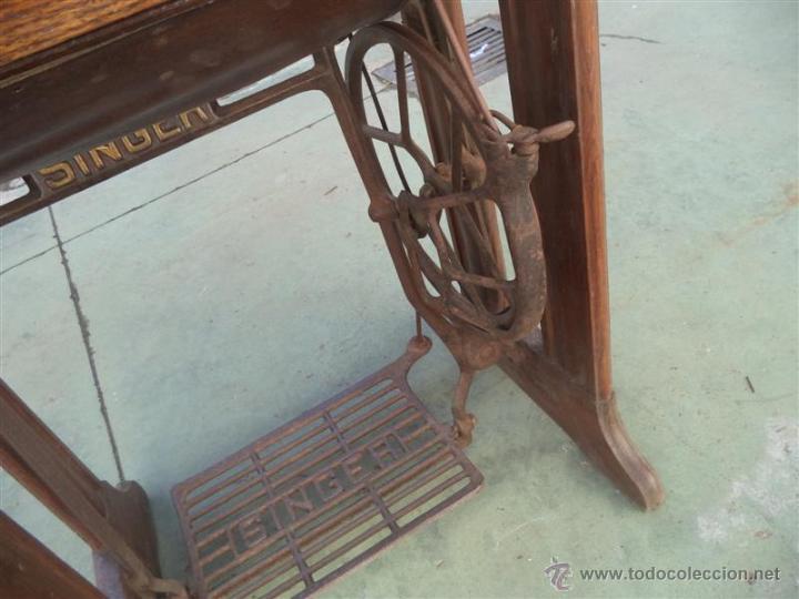 Antigüedades: maquina de coser singer - Foto 5 - 46598866