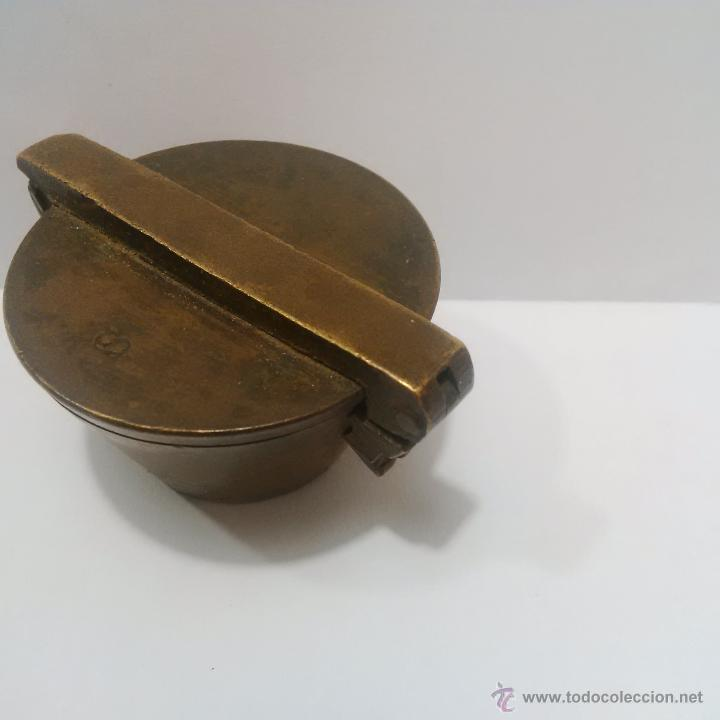 Antigüedades: ANTIGUOS PONDERALES DE BRONCE CON VASOS ANIDADOS PARA PESAR ORO -SIGLO XVIII - Foto 7 - 46612577
