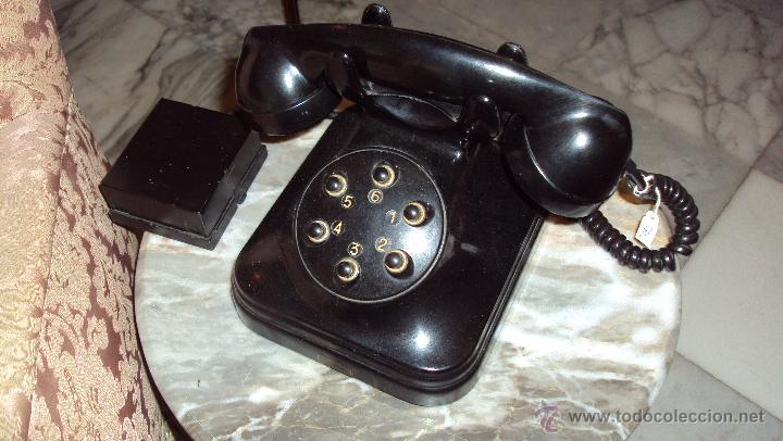 TELÉFONO DE BAQUELITA - CENTRALITA STANDARD ELÉCTRICA - MADRID (Antigüedades - Técnicas - Teléfonos Antiguos)