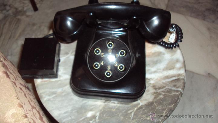 Teléfonos: Teléfono de Baquelita - Centralita Standard Eléctrica - Madrid - Foto 2 - 46655067