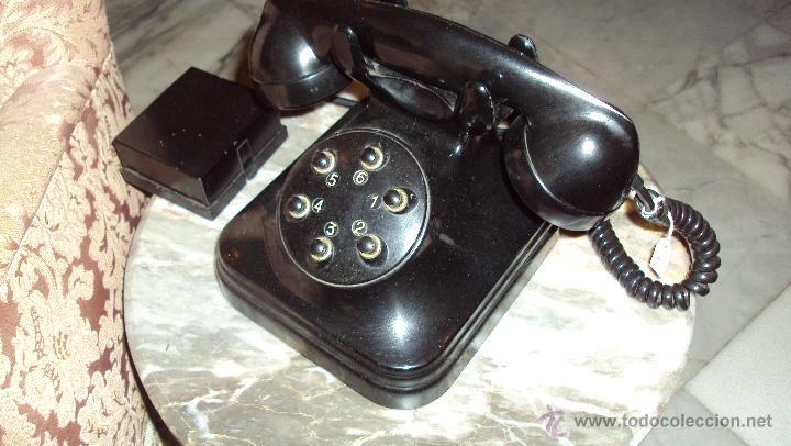 Teléfonos: Teléfono de Baquelita - Centralita Standard Eléctrica - Madrid - Foto 3 - 46655067
