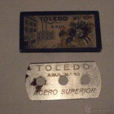 Antigüedades: HOJA DE AFEITAR - CUCHILLA- MARCA TOLEDO - AZUL Nº 10. Lote 46660629