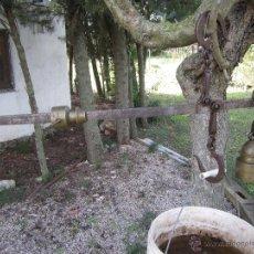 Antigüedades: ANTIGUA ROMANA RICARDO NIETO, VILLA SERENA- PIVOTE Y PESA DE BRONCE. Lote 46706878