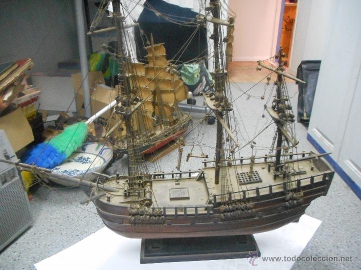 Preciosa y gran maqueta de barco antigua gran comprar - Antiguedades de barcos ...