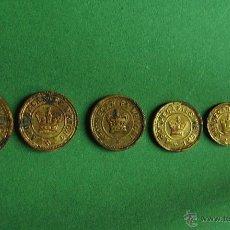 Antigüedades: LOTE COMPLETO DE PONDERALES FARMACEUTICOS SIGLO XIX. Lote 46754643