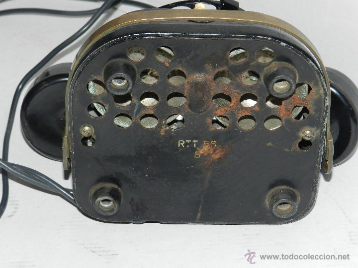 Teléfonos: (M) TELEFONO BAQUELITA NEGRO CON DORADOS Y DECORADO CON ASA, MOD-56 BELL TELEPHONE COMPANY - Foto 8 - 46757265