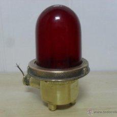 Antigüedades: FAROL DE LADO , ROJO , MODERN METAL .MFG. C. O, N. Y .. Lote 46761053