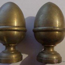 Antigüedades: 2 POMOS DE ESCALERA. Lote 46784635