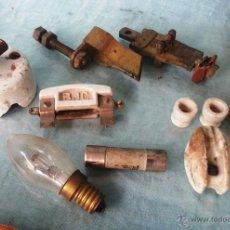 Antigüedades: OBJETOS ELECTRICIDAD (PARA REUTILIZAR O DECORACIÓN). Lote 46801559