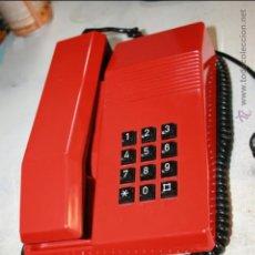 Teléfonos: TELEFONO TEIDE SOBREMESA ROJO NEGRO VINTAGE FUNCIONA CORRECTAMENTE CLAVIJA RJ CTNE SESA RERIE A 010. Lote 46838882