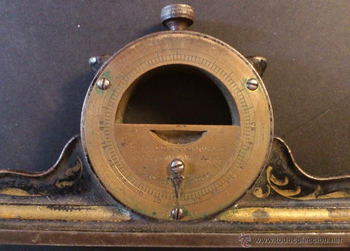FIGURA 0088 NIVEL ANTIGUO DAVIS LEVEL & TOOL CO'S ADJUSTABLE SPIRIT LEVEL 1867 CONSTRUCTION (Antigüedades - Técnicas - Herramientas Profesionales - Albañileria)