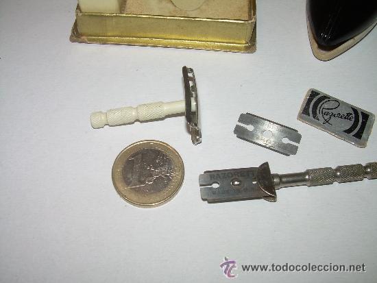 Antigüedades: ANTIGUA MAQUINILLA DE AFEITAR CON ESTUCHE DE BAQUELITA -RAZORETTE & RIPPER AÑOS 20 - Foto 6 - 46909974