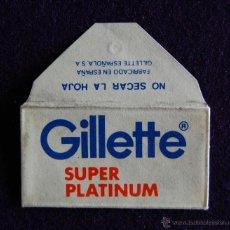 Antigüedades: HOJA DE AFEITAR ANTIGUA - GILLETTE SUPER PLATINUM - SIN USAR. Lote 194590177