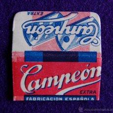 Antigüedades: HOJA DE AFEITAR ANTIGUA - CAMPEON EXTRA - SIN USAR. Lote 194590090