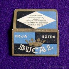 Antiquités: FUNDA DE HOJA DE AFEITAR ANTIGUA - HOJA EXTRA DUCAL. Lote 197156173