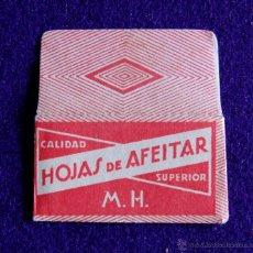 Antigüedades: HOJA DE AFEITAR ANTIGUA - M.H. SUPERIOR - SIN USAR. Lote 237325030