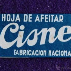 Antigüedades: HOJA DE AFEITAR ANTIGUA - CISNE - SIN USAR. Lote 237325355