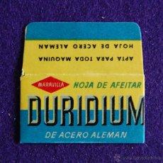 Antigüedades: HOJA DE AFEITAR ANTIGUA - DURIDIUM DE ACERO ALEMAN - SIN USAR. Lote 237324630