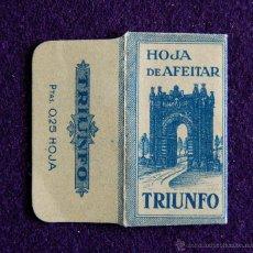 Antiquités: HOJA DE AFEITAR ANTIGUA - TRIUNFO - SIN USAR. Lote 223249917