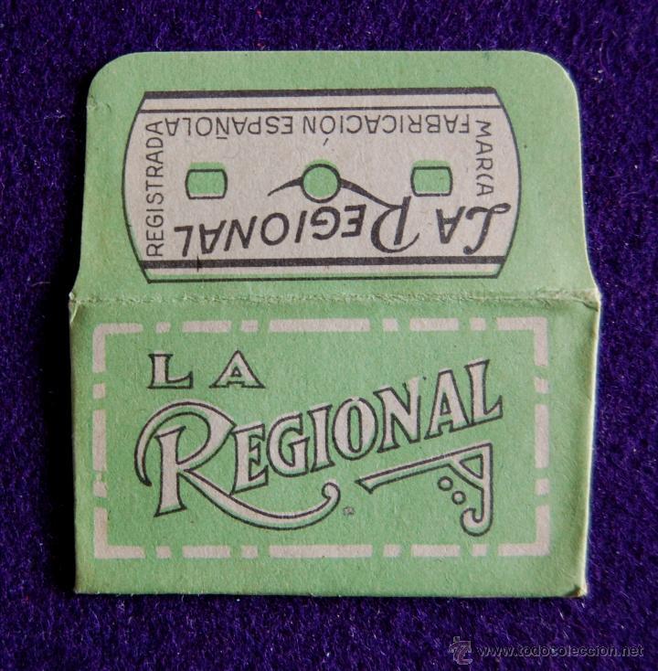 HOJA DE AFEITAR ANTIGUA - LA REGIONAL - SIN USAR (Antigüedades - Técnicas - Barbería - Hojas de Afeitar Antiguas)