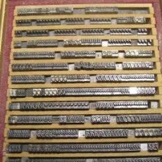 Antigüedades: IMPRENTA LETRAS DE PLOMO - LOTE 37-1 - TIPO DE LETRA 12 PULIDO - DE RICHARD GANS. Lote 46959616