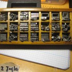 Antigüedades: IMPRENTA ,CAJITA DE LETRAS DEL CUERPO 12 INGLESA, LOTE 2-12-INGL. Lote 46965868