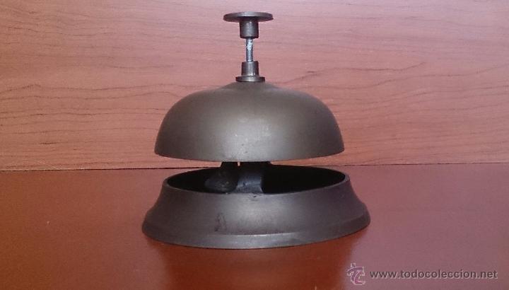 Antigüedades: Antiguo timbre llamador de recepción Hotel en bronce . - Foto 2 - 46978276