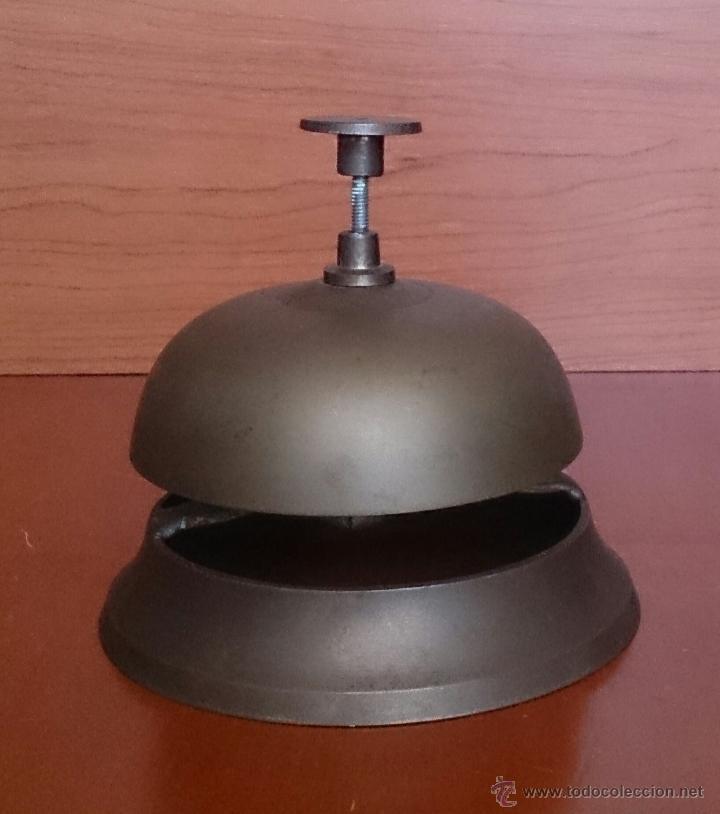 Antigüedades: Antiguo timbre llamador de recepción Hotel en bronce . - Foto 5 - 46978276