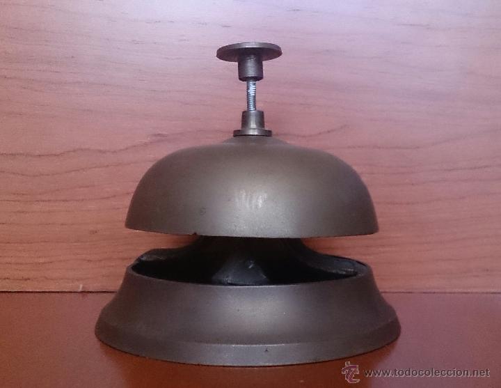 Antigüedades: Antiguo timbre llamador de recepción Hotel en bronce . - Foto 6 - 46978276