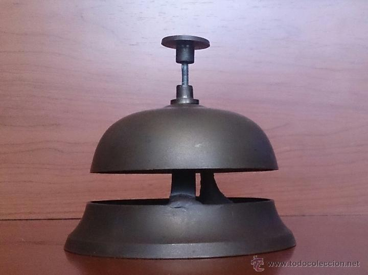 Antigüedades: Antiguo timbre llamador de recepción Hotel en bronce . - Foto 7 - 46978276