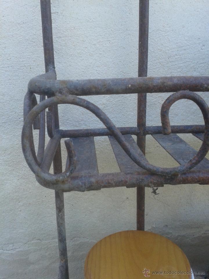 Antigüedades: Preciosa estanteria leja hierro y forja - para decoración shabby chic rústica comercios o cocina - Foto 3 - 47032077