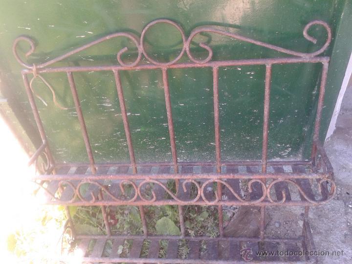 Antigüedades: Preciosa estanteria leja hierro y forja - para decoración shabby chic rústica comercios o cocina - Foto 7 - 47032077