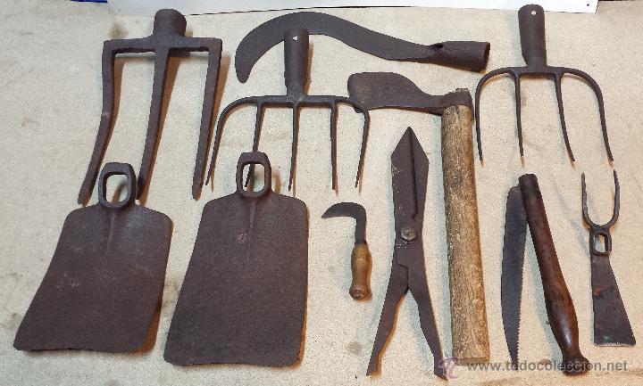 lote 11 herramientas campo de forja varias con comprar